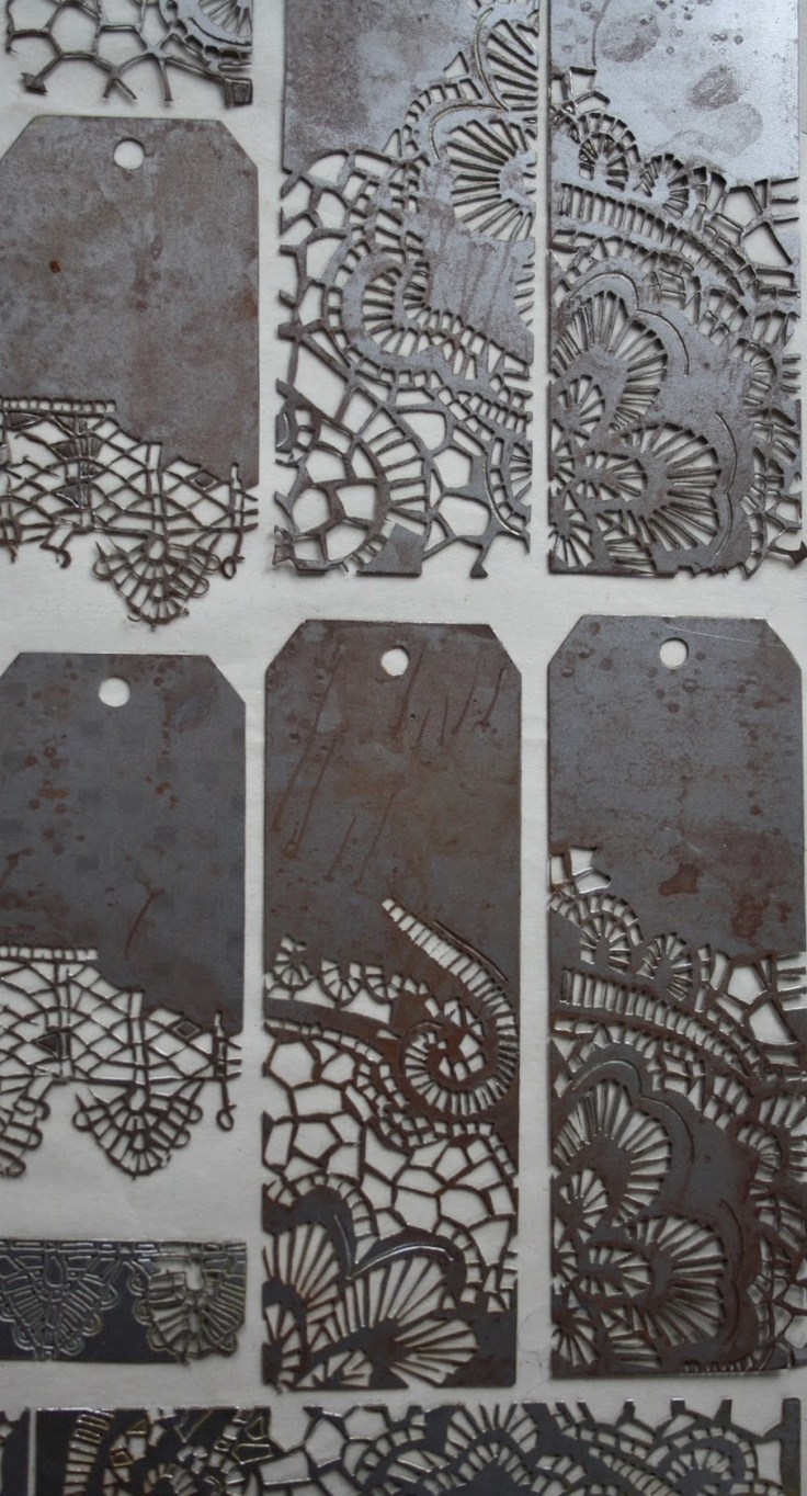 Sue Brown Printmaker Amazing etched metal I know that this isn't metal clay, but gawd it's some pretty metal!