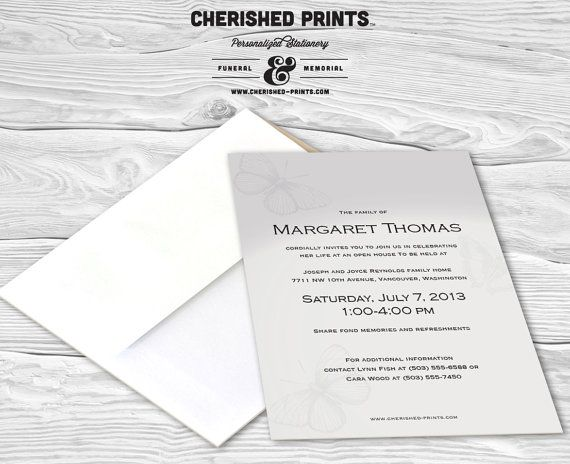 28 best Invitations, Announcements, and Mourning Cards images on - funeral announcement sample