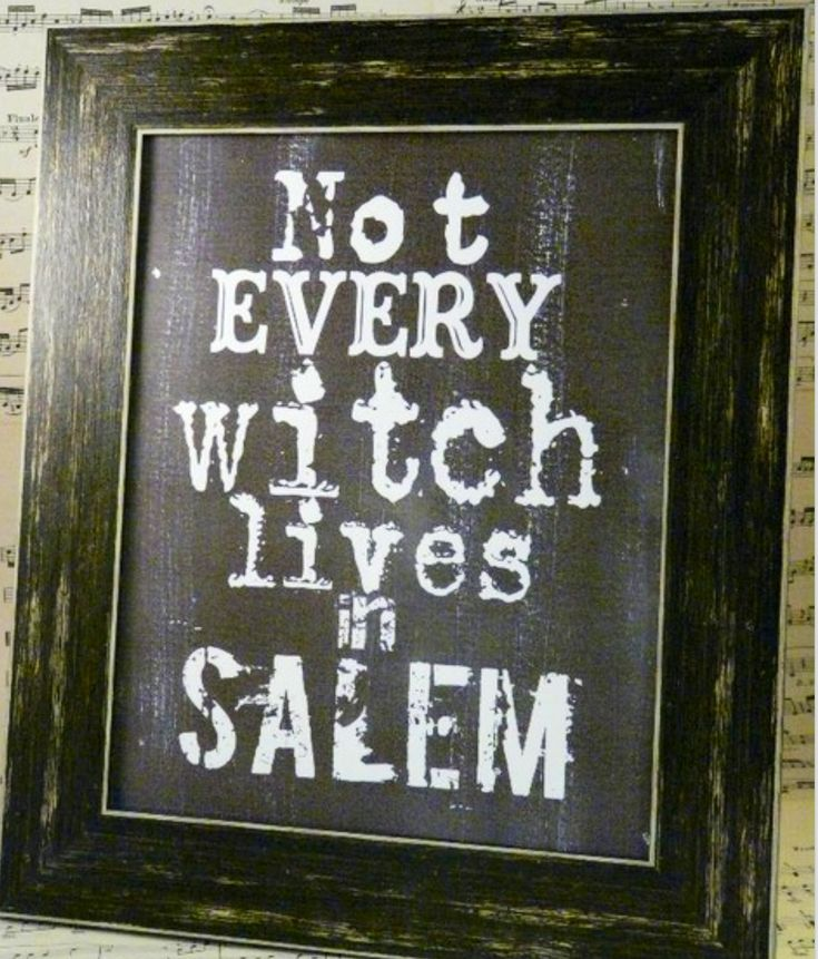 Halloween not every Witch lives in Salem sign digital - black uprint words…
