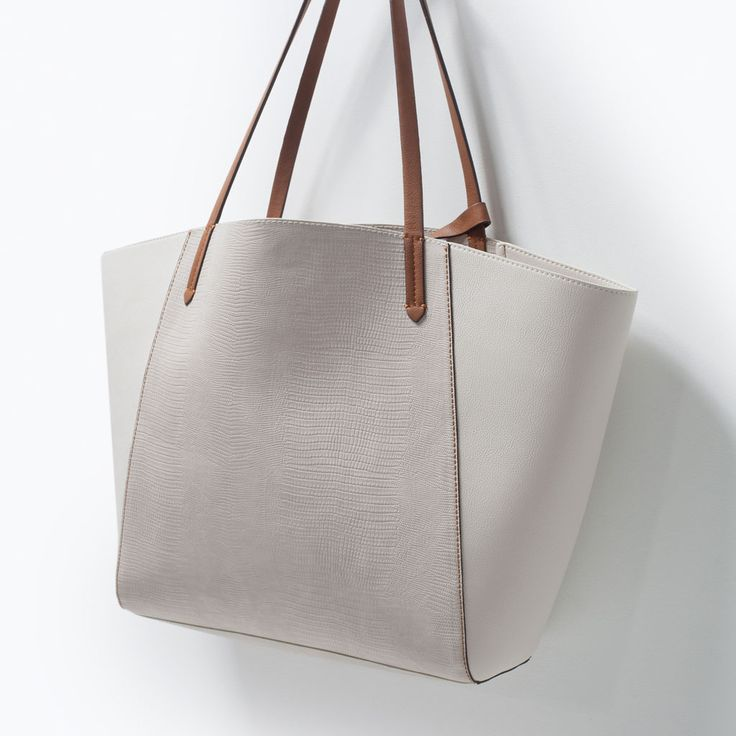 Image 4 of COMBINED SHOPPER BAG from Zara