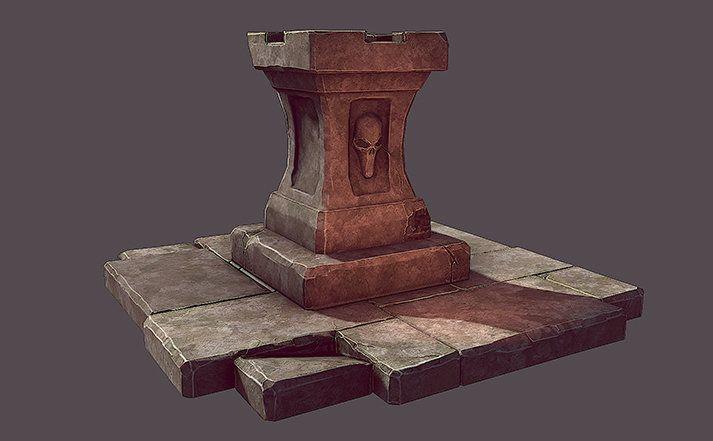 ArtStation - Pedestal, Maxime LARIVIERE