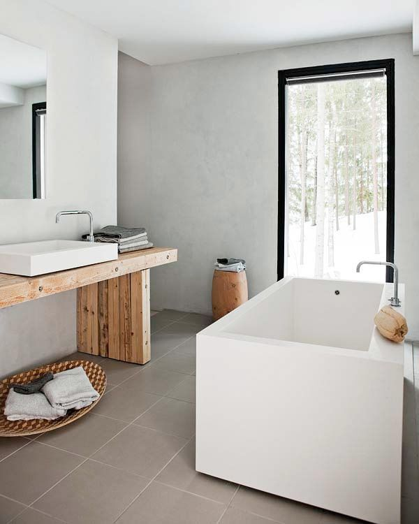 10 anledningar att välja furu i badrummet - Sköna hem