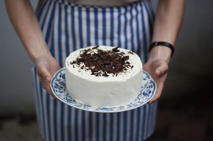Piškotový dort s mascarpone