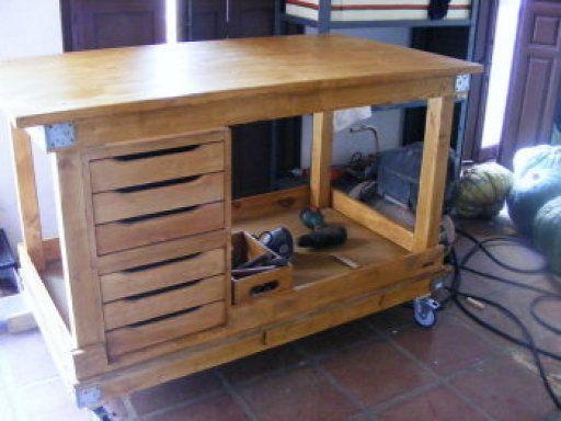 M s de 1000 ideas sobre banco de trabajo de garaje en - Mesa de trabajo bricolaje ...