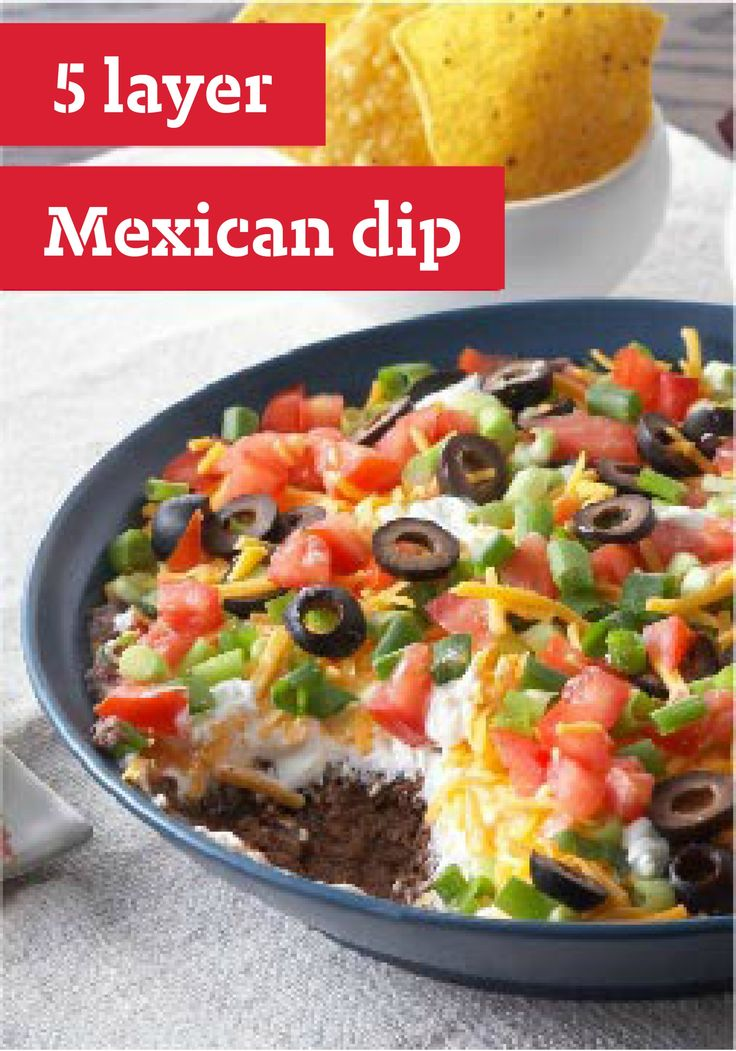 Layer Mexican Dip -- This appetizer recipe is so easy, the only ...
