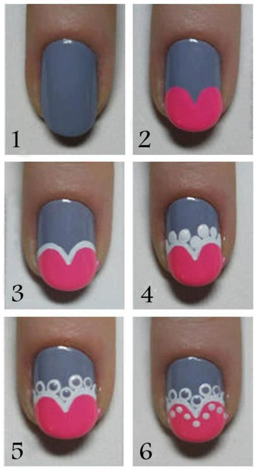 Cute Nail Art Tutorial - Head over to Pampadour.com for more fun and cute nail…