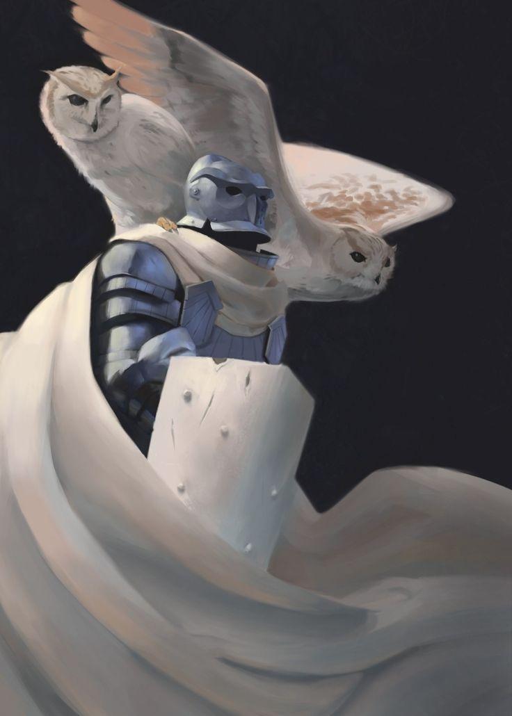 Owl Knight, Maciej Rudnicki on ArtStation at https://www.artstation.com/artwork/Z2xmZ