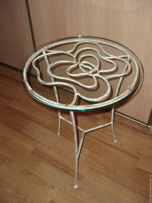 """Мебель ручной работы. Ярмарка Мастеров - ручная работа. Купить Столик кованый """"Розочка"""". Handmade. Стол, спальня, художественная ковка"""
