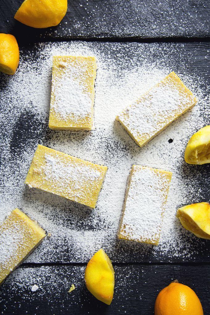 Gluten-Free Vegan Lemon Bars (Refined Sugar-Free, Grain-Free)