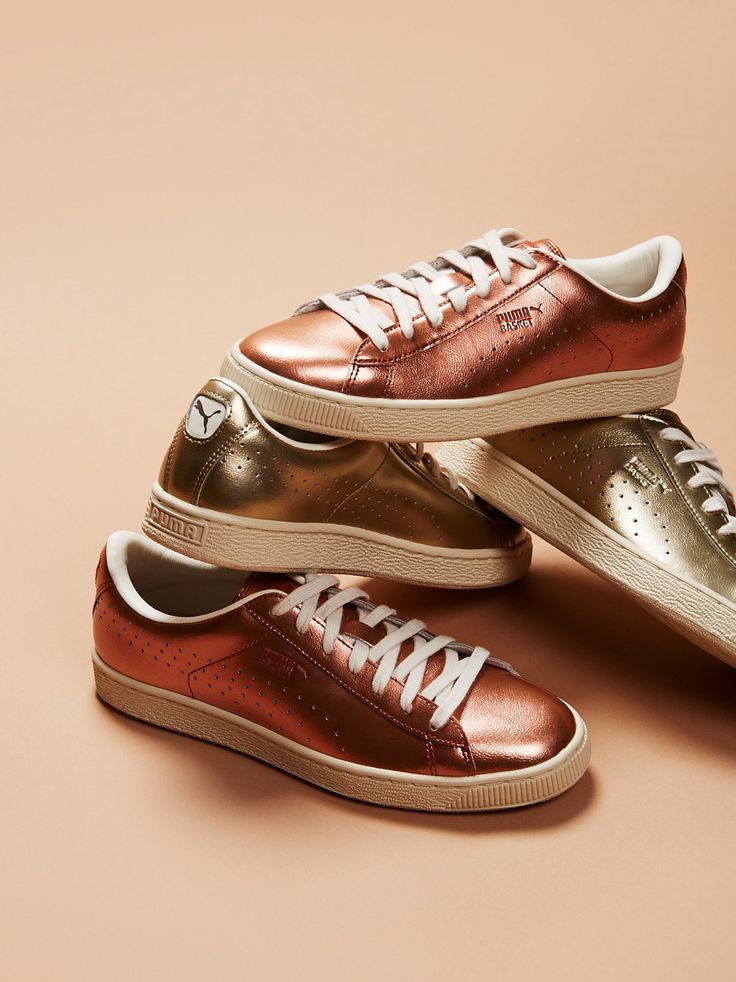 Puma Basket Classic Citi Metallic Court Trainer at Free People Clothing Boutique