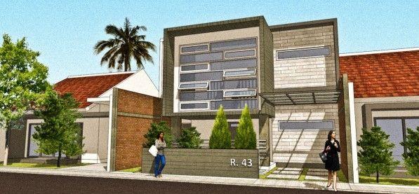 Splitlevel House (Rumah dengan lantai bordes tangga sebagai ruang keluarga)