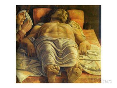 Andrea Mantegna (1431-1506) The Dead Christ. Lamentation of Christ, 1476. Pinacoteca de Breara, Milão. http://arteseanp.blogspot.com