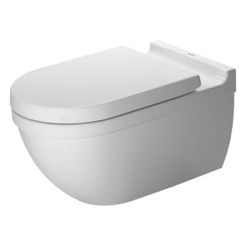 Duravit 2226090092 Starck 3 Dual Flush Wall Mounted Elongated Toilet - Less Seat