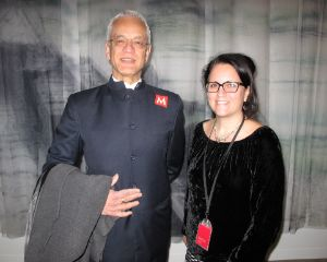 Agha Iqbal Ali, brother of poet Agha Shahid Ali, and MASS MoCA's Director of Education Laura Thompson.