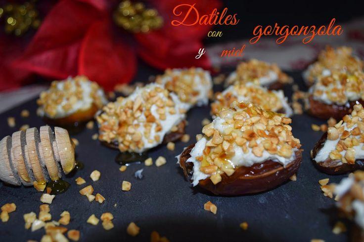 Cocinando en Mislares: DATILES con GORGONZOLA y MIEL