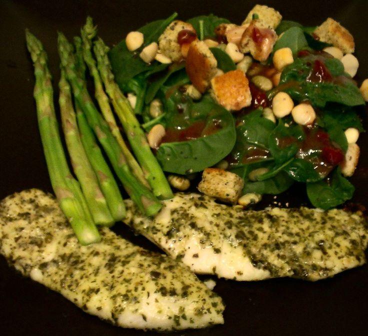... Tilapia Al Pesto en Pinterest | Receta Verdes, Pesto y Parmesano Con