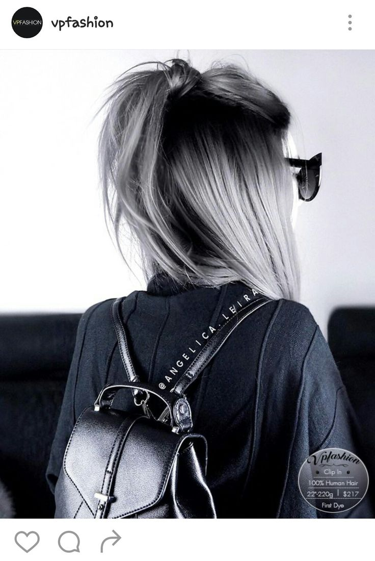 black ombre grey hair