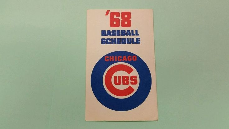 1968 CHICAGO CUBS BASEBALL SCHEDULE