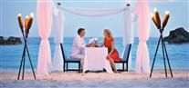 Candle lit dinner on the beach at Southampton Princess, Bermuda..so romantic