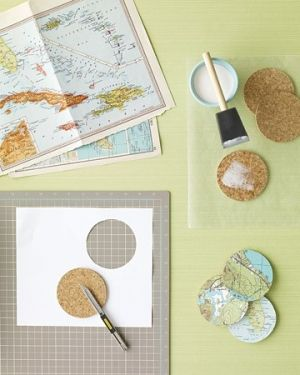 DIY Map Coasters by ell923
