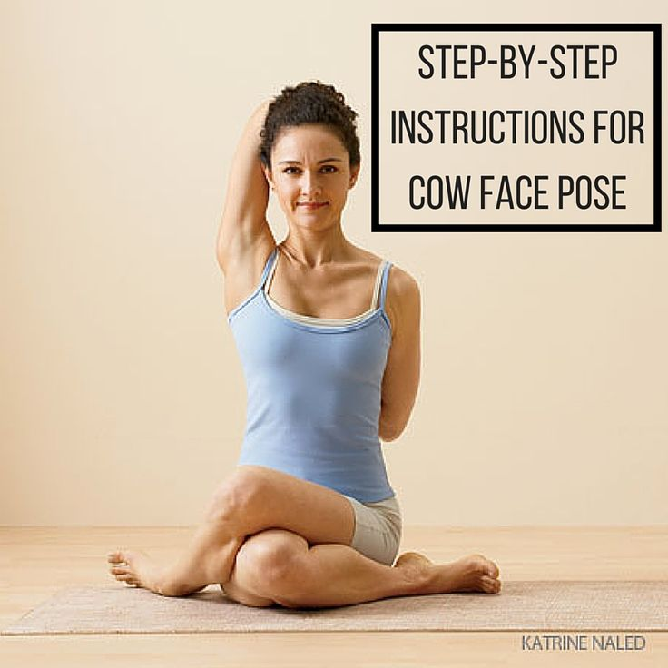 Practice cow face pose safely
