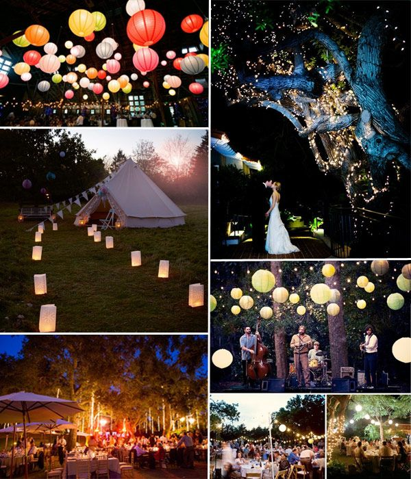 summer evening wedding decor