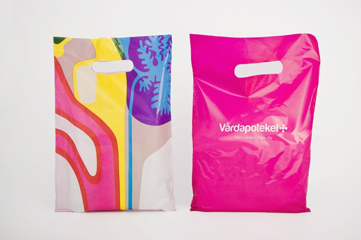 Coolest pharmacy shopping bag ever. By Stockholm Design Lab: Plastic Bags, Branding Cure, Shops Bags, Design Blah, Business Design, Stockholm Design, Design Labs, Pharmacy Branding, Co Design