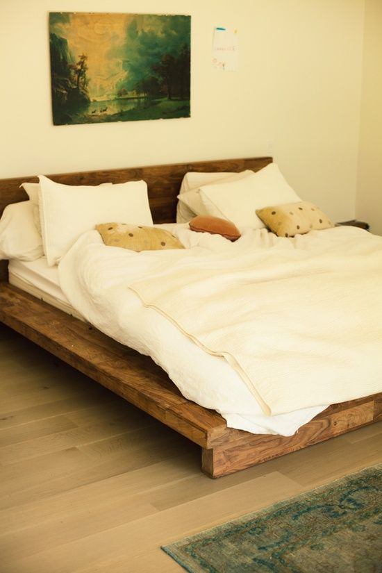Very Low Bed Part - 45: Photo By Jamie Beck. Love The Wood Bed Frame