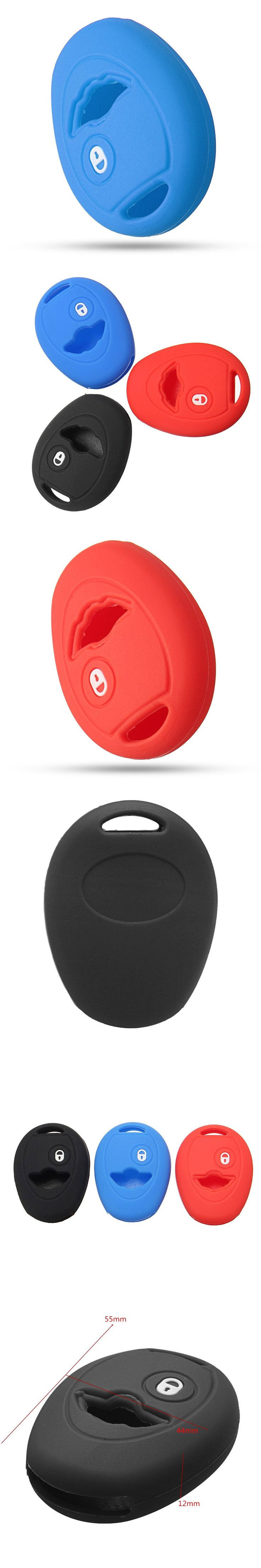 1 Button Car Silicone Key Case Cover Remote Key Fob Protect Cover Case For BMW for Mini Cooper One S R50 R53 2002-2005