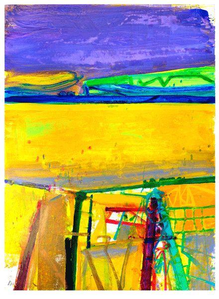 New Fence Mayo, mixed media, 105 x 78cm  Barbara Rae
