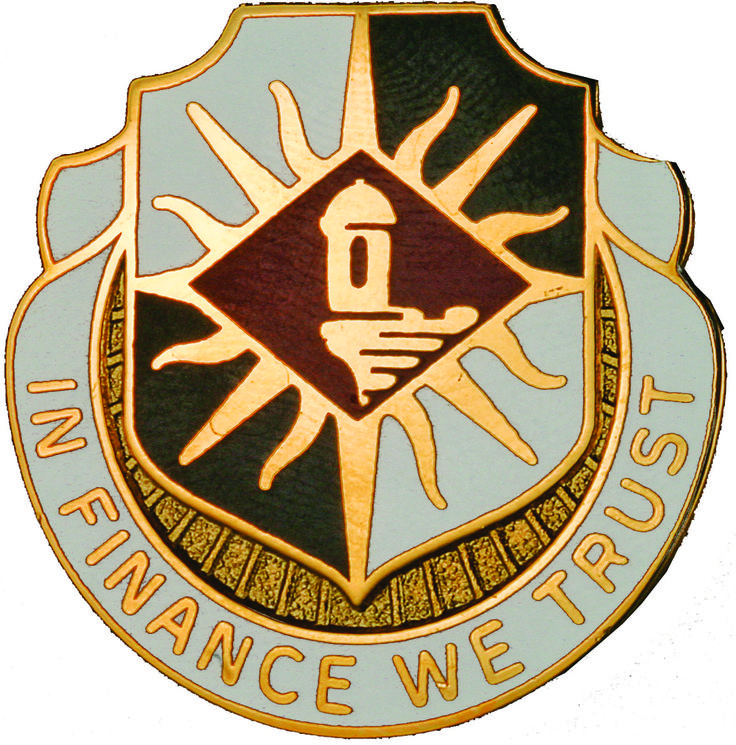 338th Finance Bn Unit Crest (In Finance We Trust)
