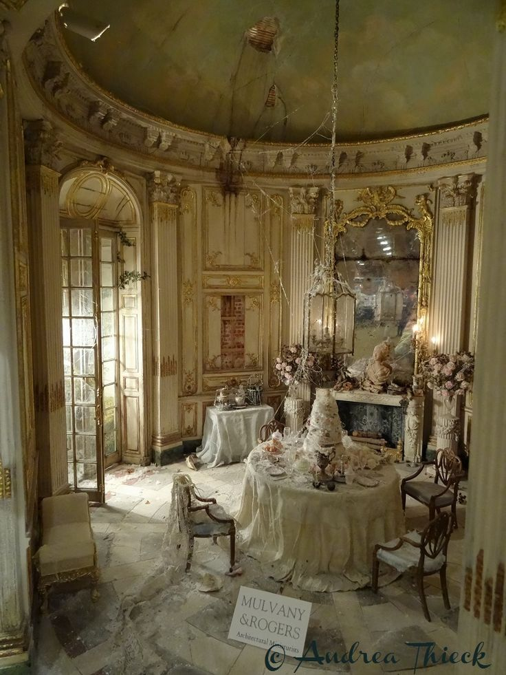 Andrea Thieck Miniatures (jt-Miss Havisham's Wedding Breakfast by Mulvany & Rogers - a new scene for the 2015 Kensington Dolls House Fair. Stunning!)