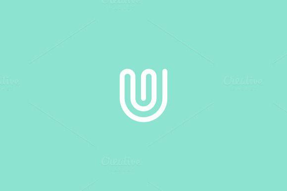 Line letter U logotype by iamguru on @creativework247