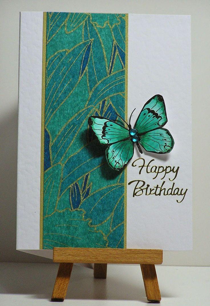 Скрап открытка с бабочкой, поздравления