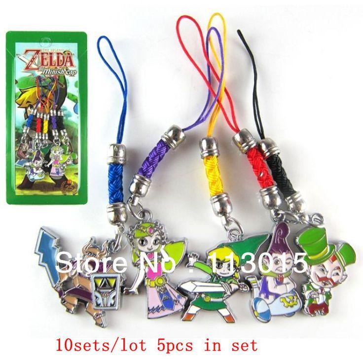 10 компл./лот легенда о Zelda игрушки ремни подвески minish крышка телефон шарм брелок 5 шт./компл.