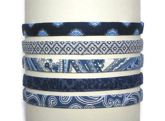 Womens blue headbands, also sized for men and girls. These soft & comfortable 1/2 inch headbands are ready to ship. Slip one of these fun headbands on and you will look completely put together whether its out running errands, at work or school, a workout at the gym or an evening out on