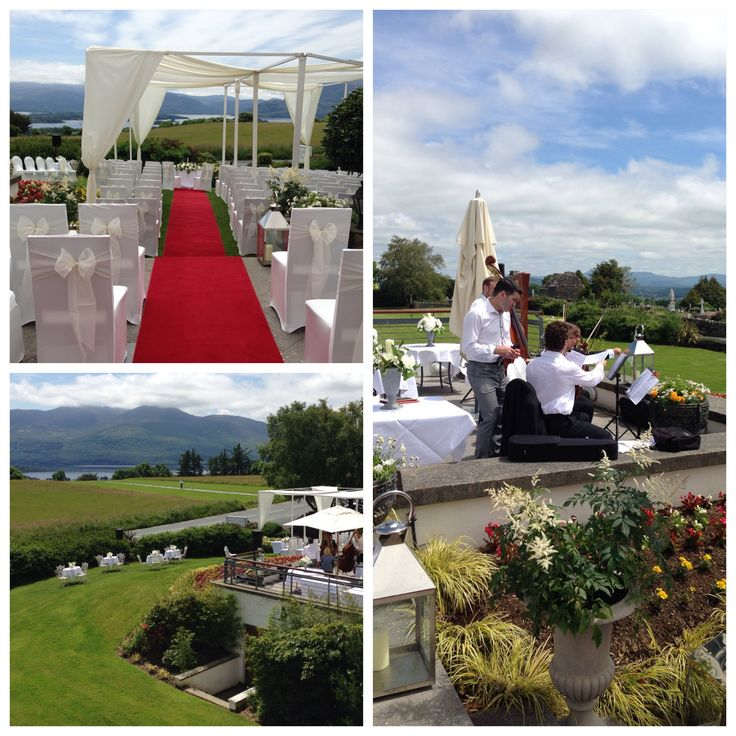 We do! Outdoor wedding on the Terrace at the beautiful Aghadoe Heights Hotel, Killarney #weddingsinkerry #Kerry #weddings #marriage