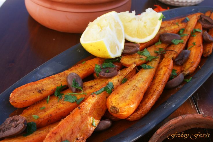 Moroccan Roasted Carrots with Black Olives Recipe  4 Vibrant Recipes For a Moroccan Thanksgiving Dinner   Friday Feasts  http://2via.me/JhVjP3GL11