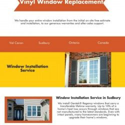 We handle entire windows installation for both domestic and commercial properties in Sudbury. Our specialist provides best vinyl window replacement so