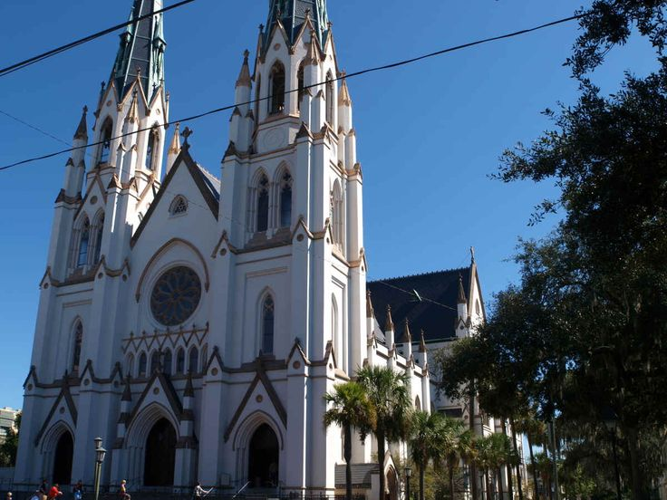 Savana, Georgia's oldest Catholic church, St. John the Baptist Cathedral - Victorian Gothic -really beautiful - visited there when we were in Savana...