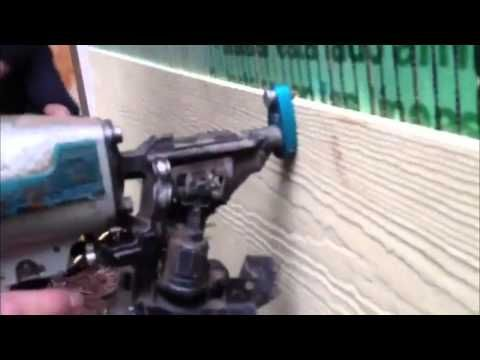 Ezi Gauge Siding Nail Gun Attachment Youtube Siding