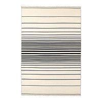 Ковер, безворсовый, белый с оттенком ручная работа белый с оттенком, черный, РИСТИНГЕ (арт. 20314660)