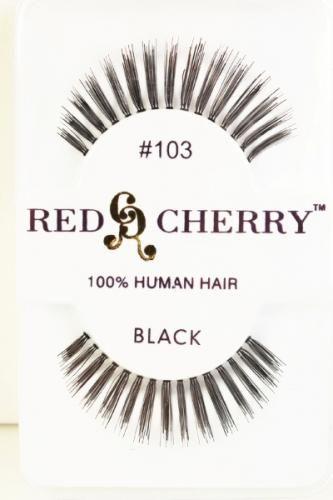 Black Natural Glamour Long Human Hair False Eyelash