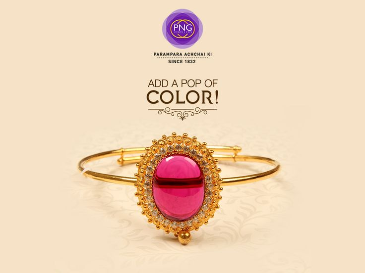 Flaunt your colorful personality proudly, with this gorgeous colorful gold bracelet. #Beautiful #Jewelry #Pretty