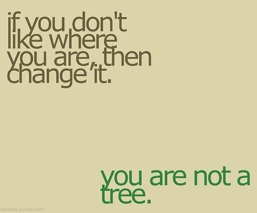 Ure not a treeLife, Inspiration, Quotes, Change, True, Trees, Living, Favorite Recipe, Stop Complaining