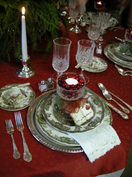 Far Above Rubies: Friendly Village Tablescape...