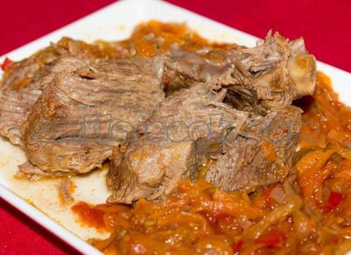 тушеные говяжьи ребрышки в остром соусе
