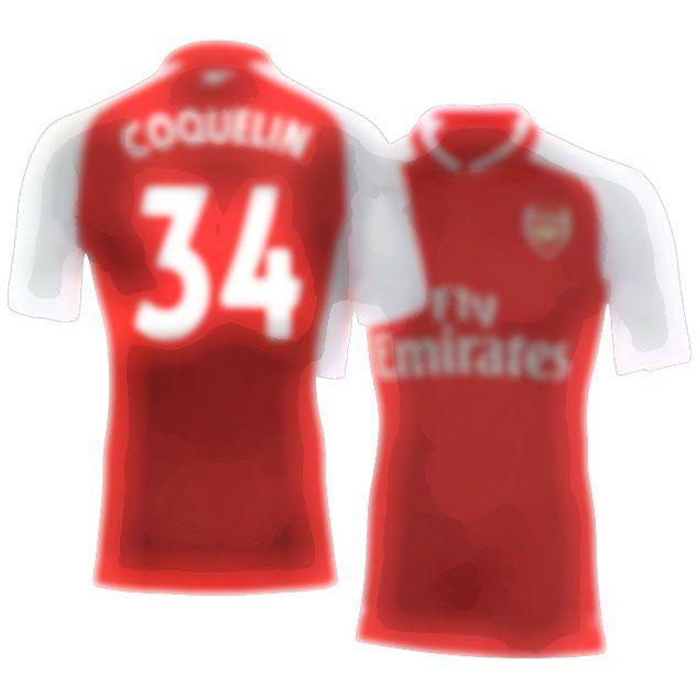 17-18 Arsenal Shirt Kit francis coquelin Home Top