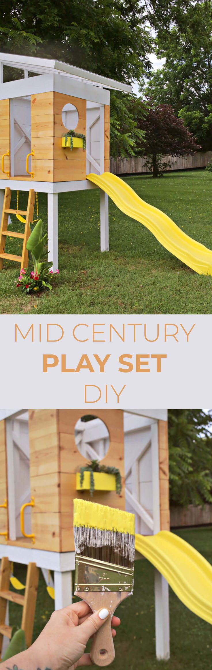 The kids will LOVE this DIY Mid Century play set.