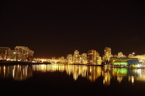 Night view 2 - Vancouver, BC - photograph taken by Rosalia Marie